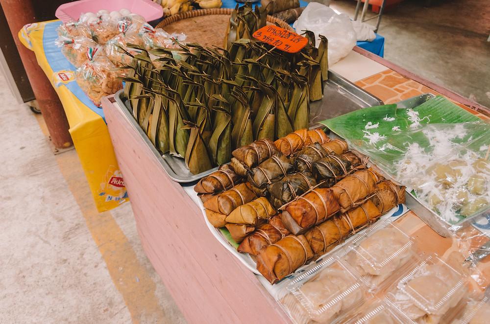 Thai food at Bang Nam Pheung Floating market- Bang Krachao - Bangkok's green lung
