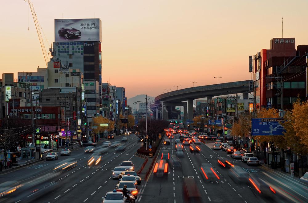 Korea sunset - low shuter speed