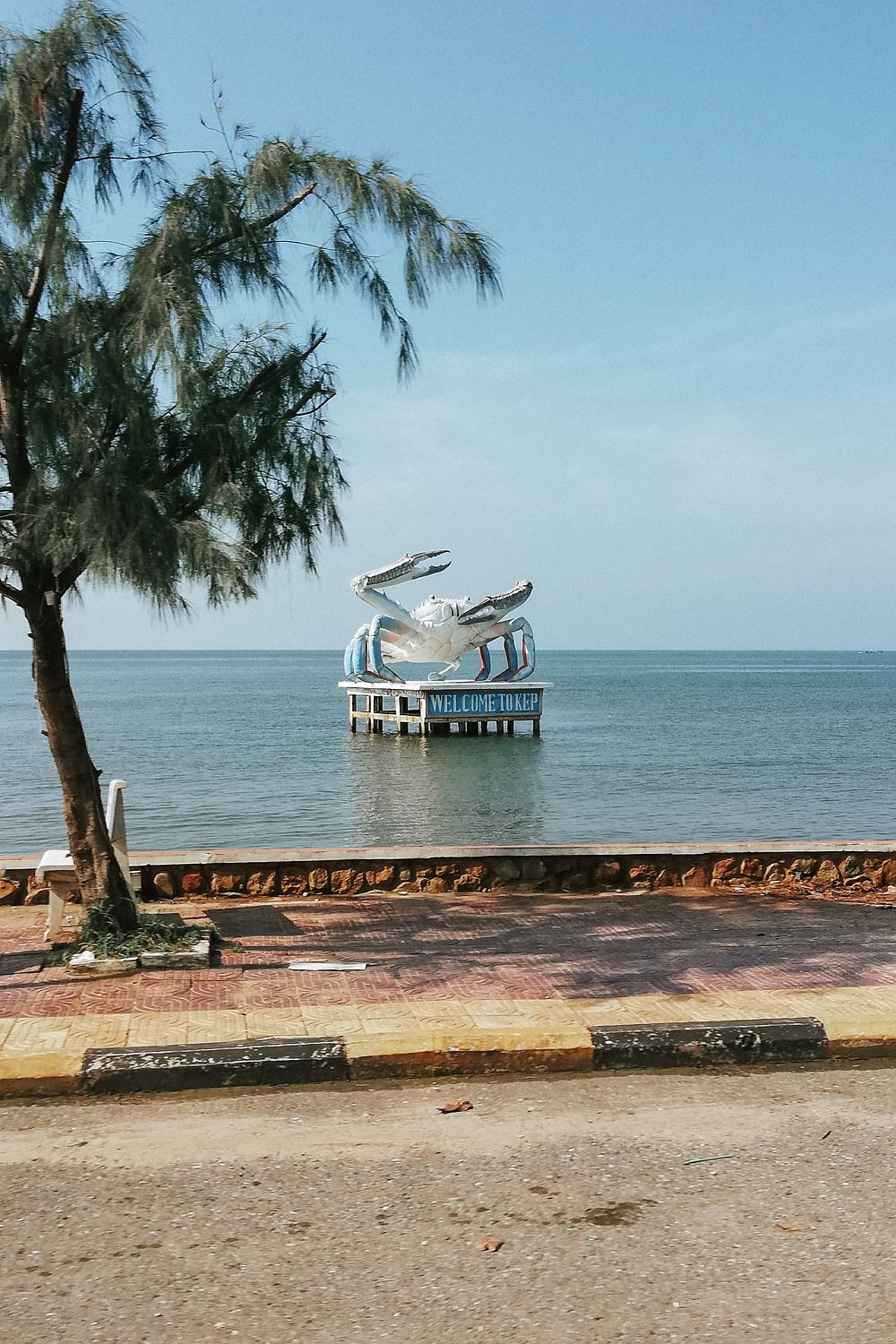 Famous crab statue in Kep, Cambodia