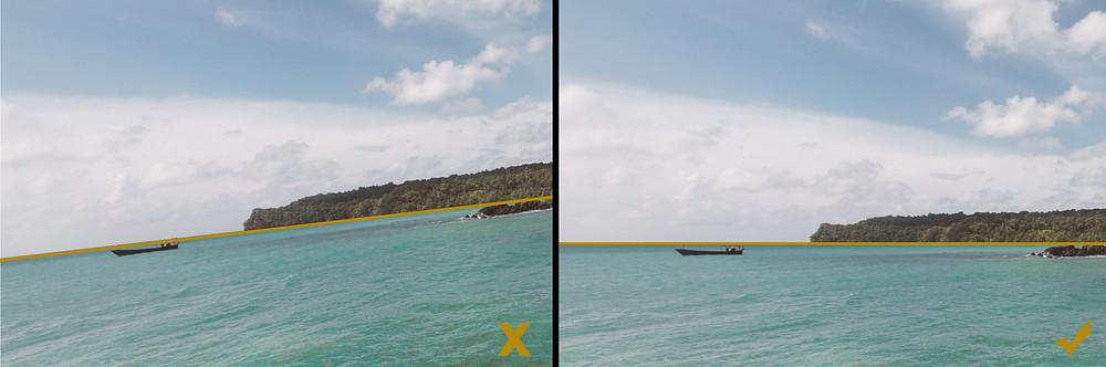 Horizon line - Photography tips