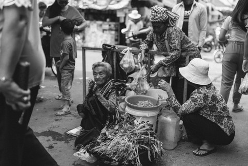 street photography in cambodia black and white