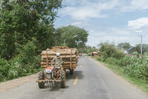Rural area of Kampong Chhnang, Cambodia