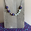 Thumbnail: Leather Cord and Fabric necklace with Beads