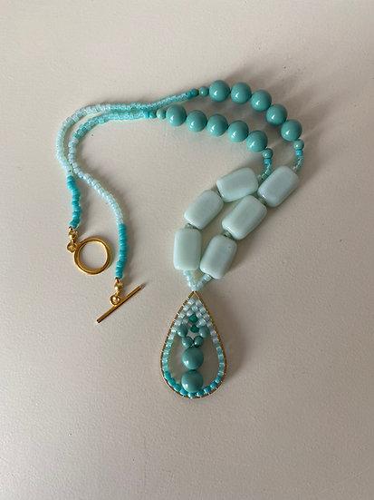 Pendant necklace - Sea green