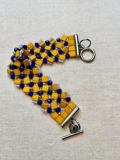 Crochet - Mustard Beadwork bracelet