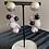 Thumbnail: Stud beads drop earrings