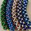 Thumbnail: Tubes - beadwork necklace - Blue