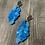 Thumbnail: Honeycomb Blue - Beadwork earrings