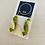 Thumbnail: Shapes Barrel Green - Beadwork barrel earrings