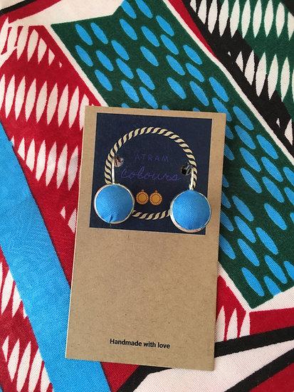 Fabric cabochon earrings