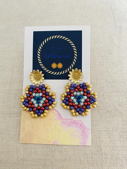 Shapes Flowers Medium - Beadwork earrings