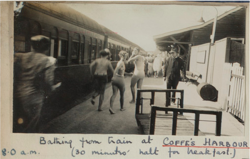 'Bathing_from_train_at_Coffe's_(sic)_Harbour,_8am,_thirty_minutes_halt_for_breakfast',_December_20th_1934_(9448416988).jpg