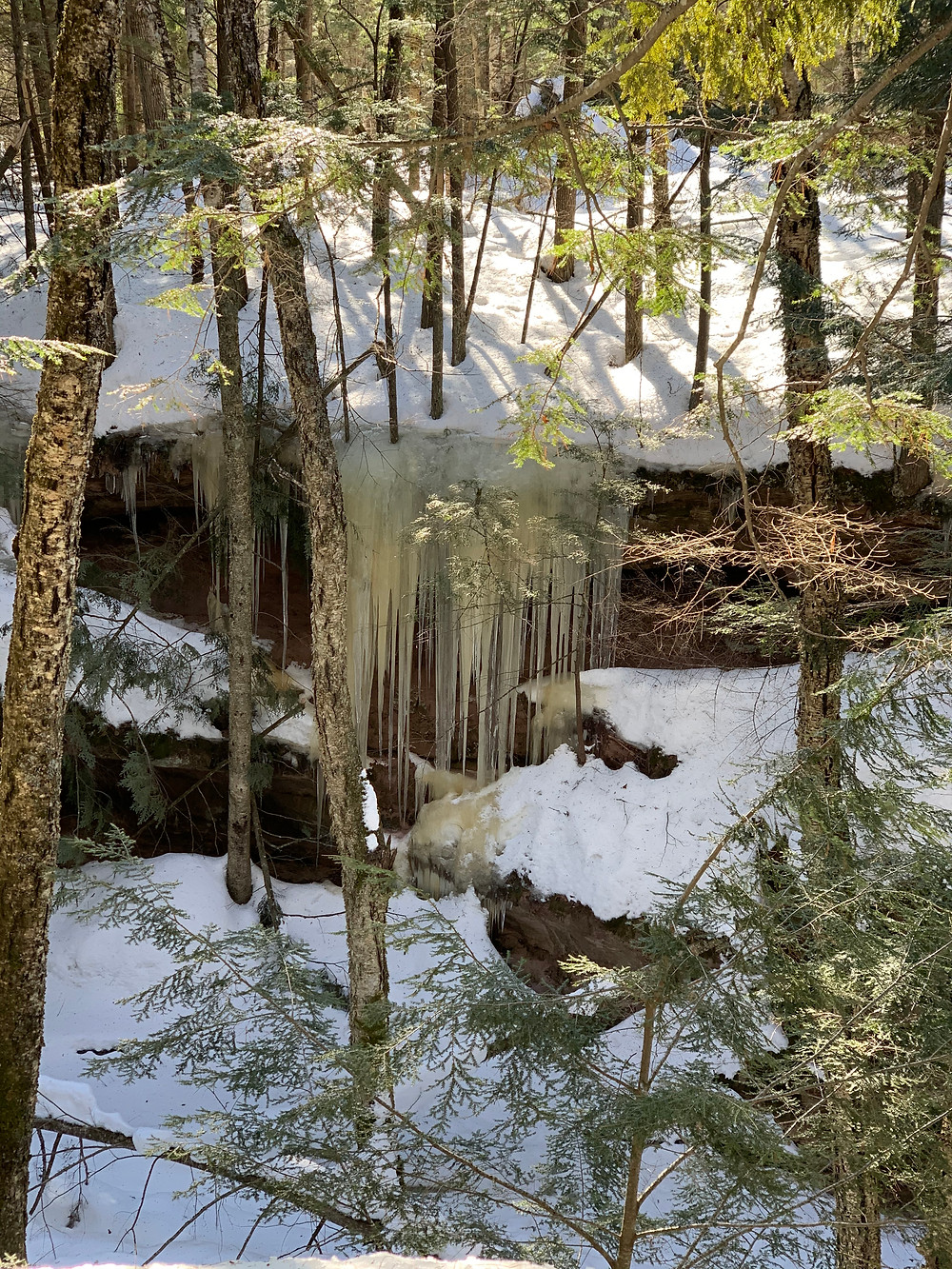 Winter hiking in Bayfield WI