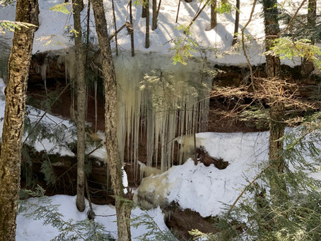 Winter Hiking in Bayfield, WI