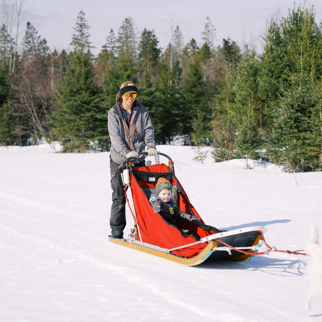 Baby in a sled