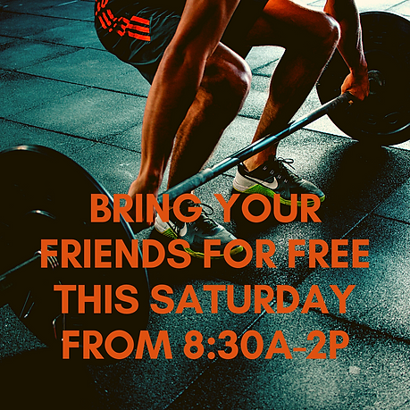 bring your friends for free this saturda