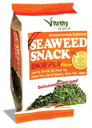Seaweed Snack Kimchi Spicy Flavor - 12Pk