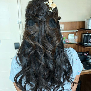 Hair dressed up by me #hair #hairstyling
