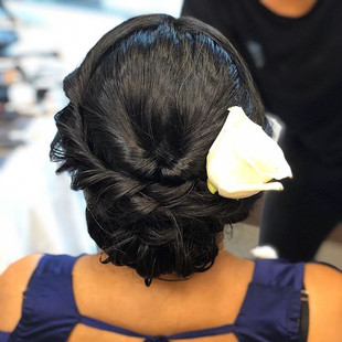 Hair dressed by me for a beautiful bride