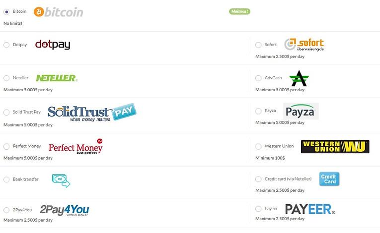 les processeurs de paiements