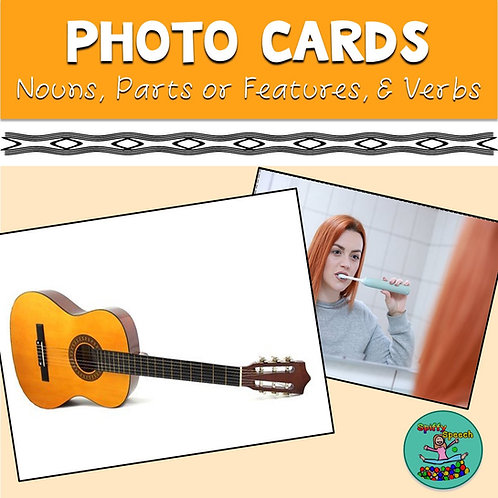 Photo Cards: Nouns, Verbs, Parts of Objects
