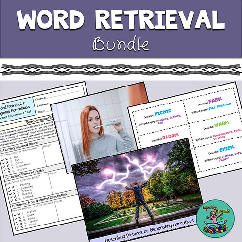 Word Retrieval & Language Formulation Bundle