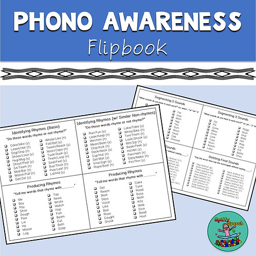 Phonological Awareness Flipbook