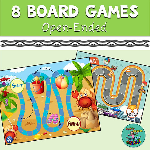 8 Board Games - Boom Card Games