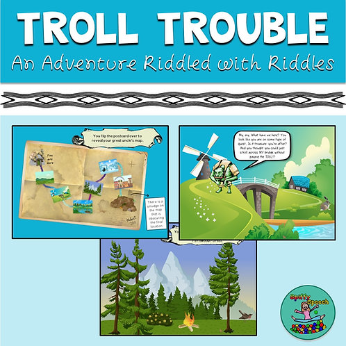 Troll Trouble - PowerPoint and Boom Card Game