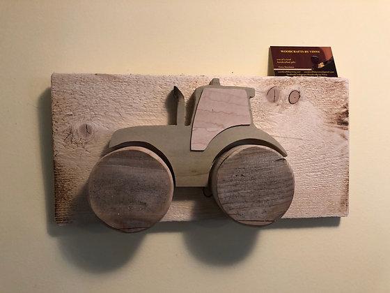 Rustic Tractor on Poplar