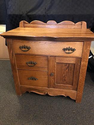 Oak Vintage Cabinet / Dry Sink
