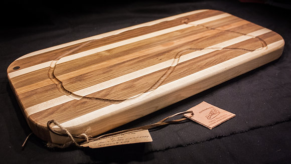 Engraved 24'' x 10.5'' x 1'' Thick Large Cutting Board