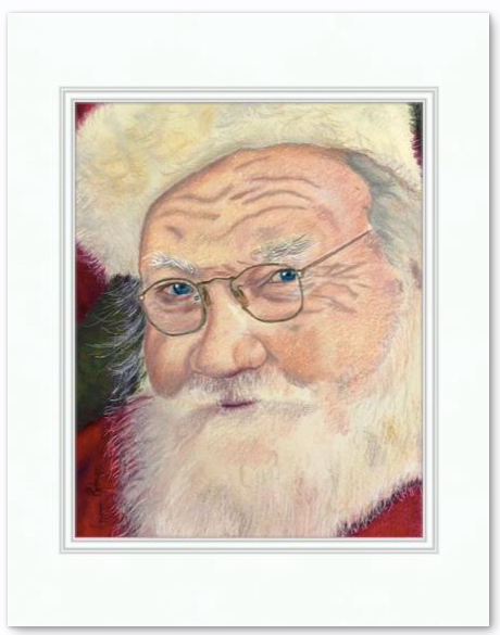 8x10 coloured pencil portrait with 11x14 mat, ready to be framed