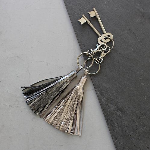 'Tassel' Leather Handmade Metallic Tassel