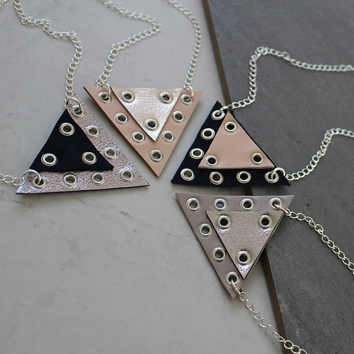 'Prism' Geometric Eyelet Necklace