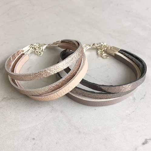 Leather Triple Band Bracelet