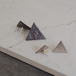 TessaMarieCox_Triangle Earrings_Pewter C