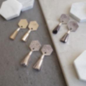 TessaMarieCox_Hexagon Tassel Earrings_Go
