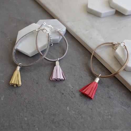 Leather Tassel Bracelet