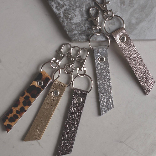 Leather Tab Keyring