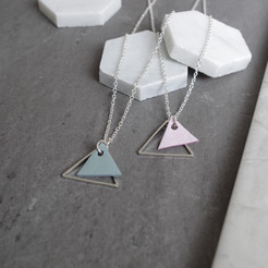 TessaMarieCox_Triangle Pendant Necklace_