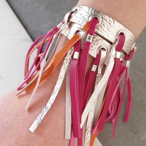 Leather Tassel Wrap Bracelet