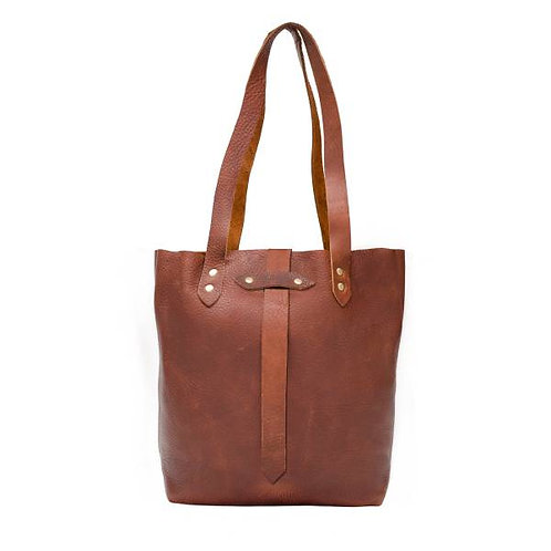 Leather tote, large