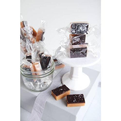 4 Piece - Dark Chocolate Sea Salt Caramels