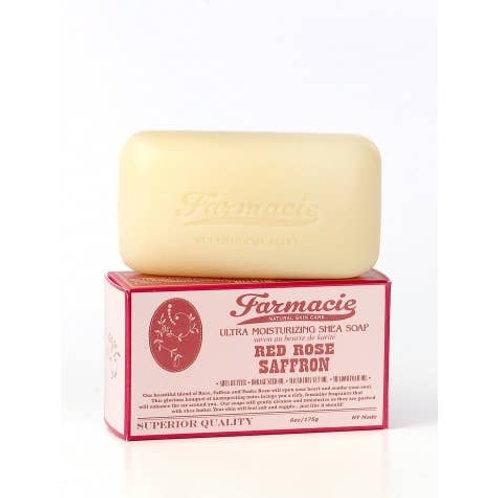 Red Rose Saffron Bar Soap