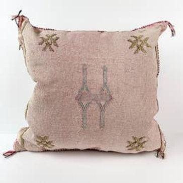 Pink Silk Sabra Pillow Cover