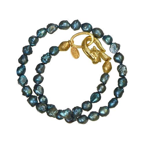 Teal Paseka Choker/Wrap Bracelet
