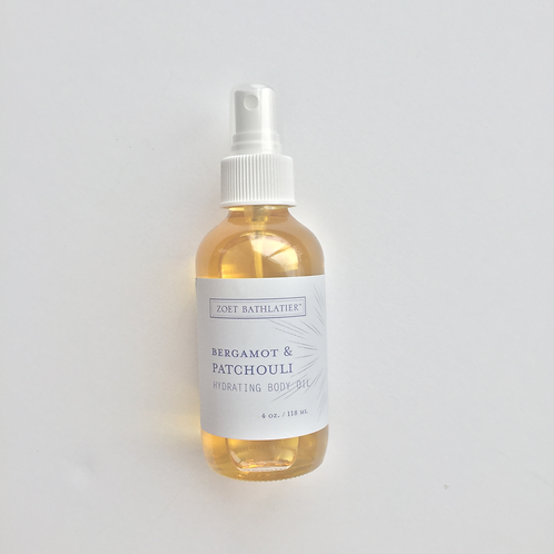 Bergamot and Patchouli Hydrating Body Oil