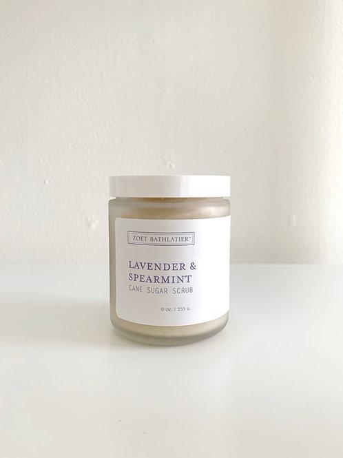 Lavender & Spearmint Cane Sugar Scrub