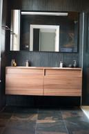 Dark and Moody Ensuite Bathroom